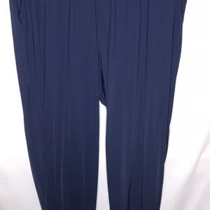 Land's End Joggers Pants Beach Swim Cover Up Navy